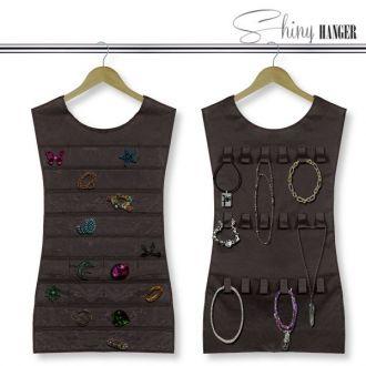 Organizza Gioielli Vestito Shiny Hanger Black
