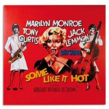 Quadro Poster di Cinema Marilyn Monroe Some Like it Hot 60 x 60