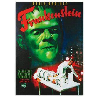 Quadro di Frankenstein su Tela di Lino 50 x 70