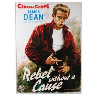 Quadro James Dean Ribelle Senza Causa su Tela di Lino 50 x 70