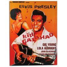 Quadro Elvis Presley Kid Galahad Su Tela di Lino 50 x 70