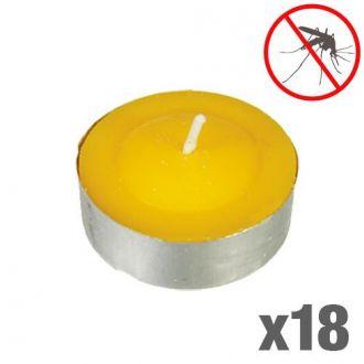 Candele alla citronella antizanzare (confezione da 18)