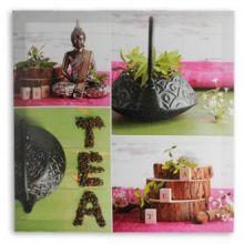 Quadro Buddha Tea su Tela di Lino 50 x 50