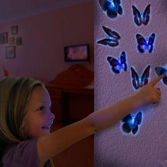 Farfalla a LED con Ventosa