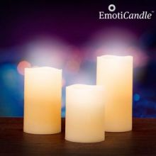 Candele LED Blow Sensor EmotiCandle (confezione da 3)