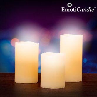 Candele LED Blow Sensor EmotiCandle (confezione da 3)