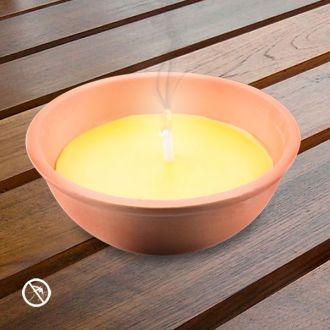 Candela alla Citronella nel Vaso di Terracotta 13 cm