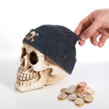 Salvadanaio Teschio con Cappello Pirata
