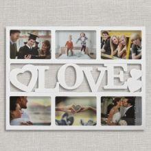 Portafoto con Cuori Love (6 foto)
