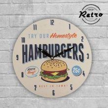 Orologio da Parete Rétro Fast Food