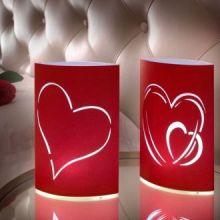 Faretti di carta LED Cuore (confezione da 2)