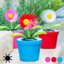 Fiore Decorativo con Movimento ad Energia Solare