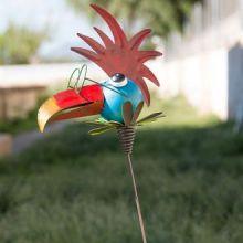 Uccello in Metallo Decorativo per Giardini