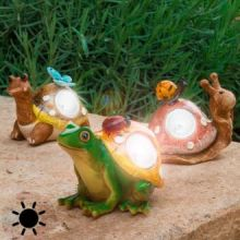 Statuetta ad Energia Solare Decorativa da Giardino