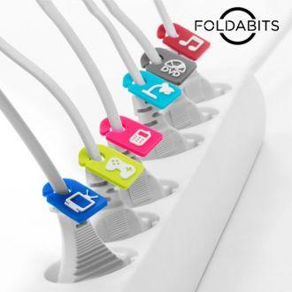 Identificatori di Cavi Foldabits (pacco da 6)