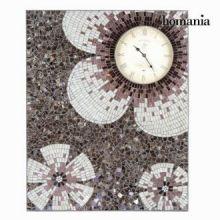 Dipinto orologio mosaico fiori - Alhambra Collezione by Homania