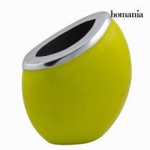 Vaso ovale di metallo verde - New York Collezione by Homania
