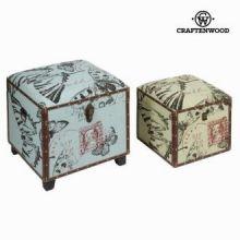 Set due bauli - Printed Collezione by Craften Wood