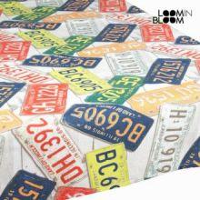 Tovaglia targhe a colori by Loomin Bloom