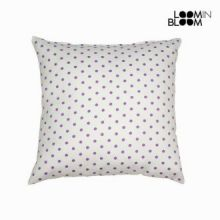 Cuscino a pois nature violetto - Little Gala Collezione by Loomin Bloom
