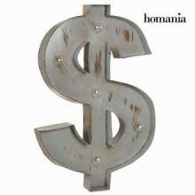 Dipinto con luce simbolo dollaro by Homania