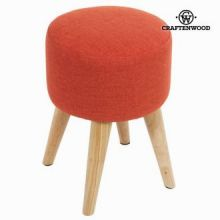 Sgabello rotondo sixty rosso - Love Sixty Collezione by Craften Wood