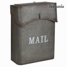 Cassetta della posta metallica grigio mail - Art & Metal Collezione by Homania