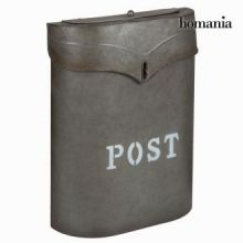 Cassetta della posta metallica grigia post - Art & Metal Collezione by Homania