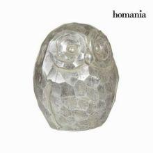 Figura gufo argentato by Homania