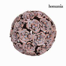 Sfera metallo fiore colore rame - Art & Metal Collezione by Homania