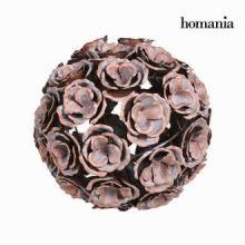 Sfera metallo fiore colore rame in - Art & Metal Collezione by Homania