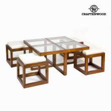 Tavolino con 4 sgabelli - Serious Line Collezione by Craften Wood