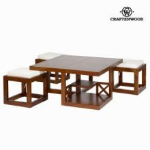 Tavolino forest 3 sgabelli - Chocolate Collezione by Craften Wood