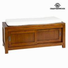Baule con cassetto e cuscino noce - Serious Line Collezione by Craften Wood