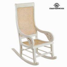 Sedia a dondolo di teak bianca by Craften Wood