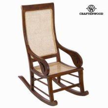 Sedia a dondolo di teak noce by Craften Wood