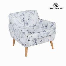 Sedia a sdraio con bracciolo marmoreo by Craften Wood
