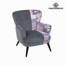 Sedia a sdraio con braccioli patchwork by Craften Wood