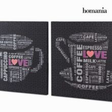 Set. 2 dipinti con strass by Homania