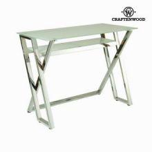 Tavolo scrittoio vetro bianco by Craften Wood