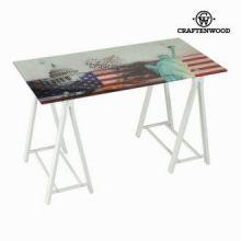 Tavolo scrittoio vetro usa by Craften Wood