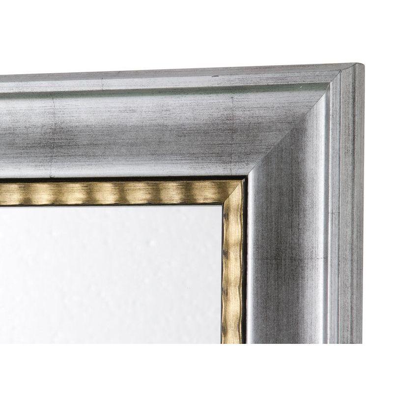 Specchio cornice argento con filo oro