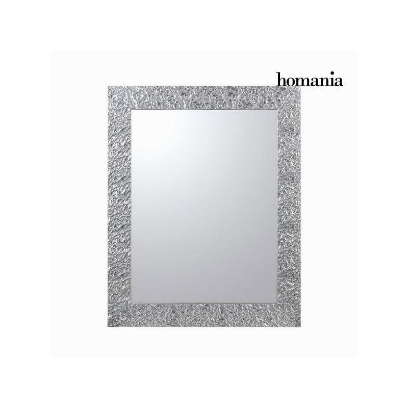 Specchio cornice pieghe argento