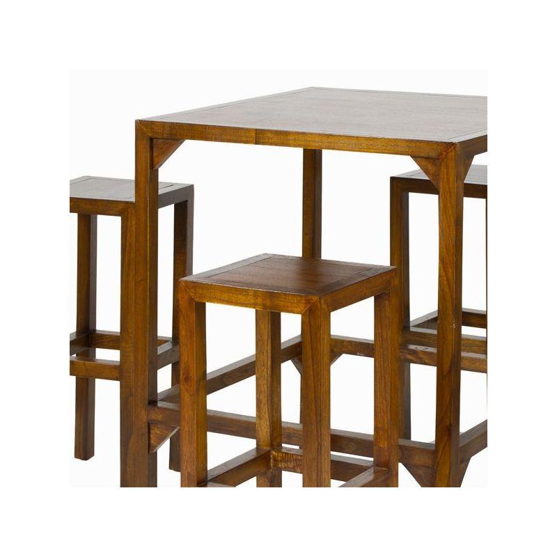 Tavolo alto con 4 sgabelli - Franklin Collezione by Craften Wood