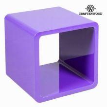 Cubo minimalista porpora by Craften Wood