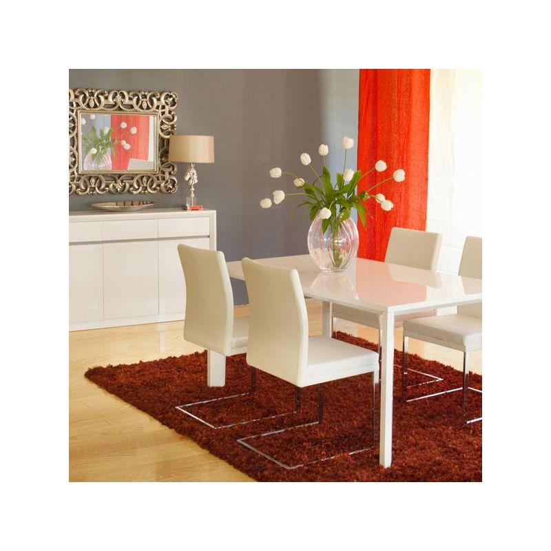 Tavolo sala da pranzo bianco laccato - Pure White ...