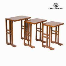 Set 3 tavoli matrioska marroni - Serious Line Collezione by Craften Wood