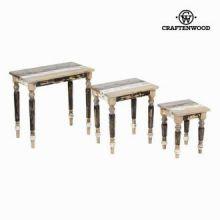 Tavolo set da tre 30x30x38 cm - Poetic Collezione by Craften Wood