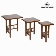Set 3 tavoli matrioska - Serious Line Collezione by Craften Wood
