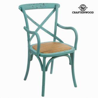 Sedia con braccioli legno blu by Craften Wood